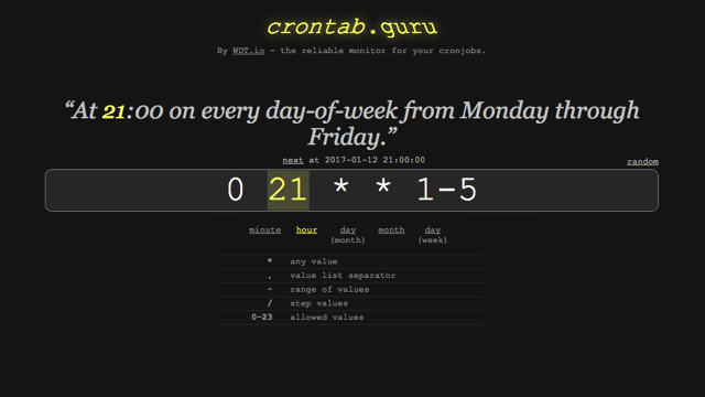 Cron Generator Online