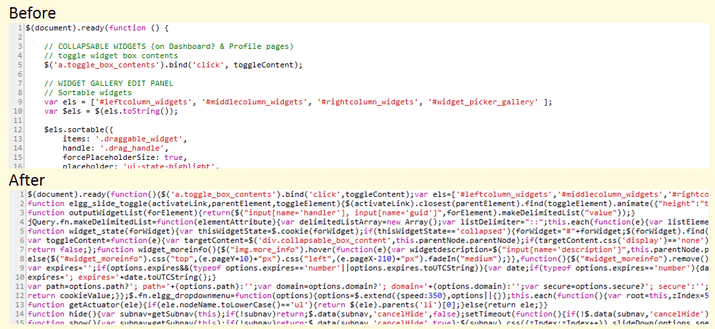 Minify Javascript Online
